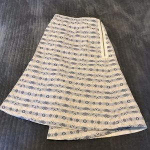 J. Crew Size 14 Blue Striped Skirt w/ Gold Accents